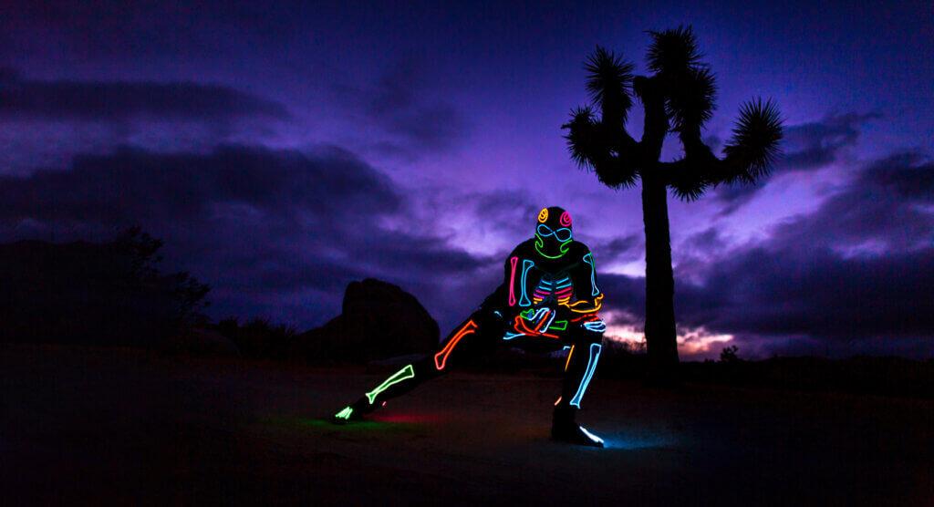 Skeleton-Man / Evening photo in Joshua Tree