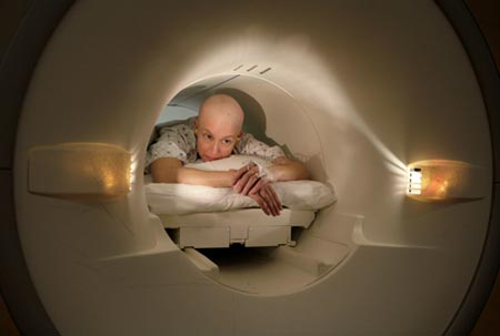 Cancer patient in scanner / Meaninglessness